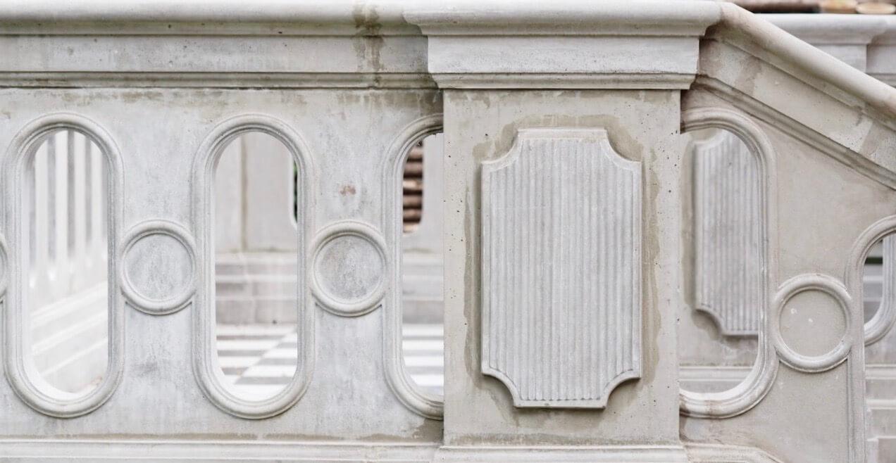 Terrasse balustrade i beton af stukkatør Jacobsen-Friis